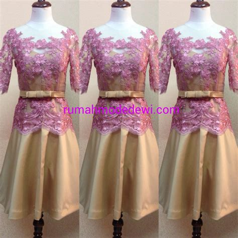 Dress Fion Dan Pita kebaya dress pink belt pita