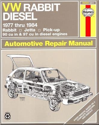 car repair manuals online free 2007 volkswagen rabbit seat position control vw rabbit jetta pickup repair manual 1977 1984 haynes 96020