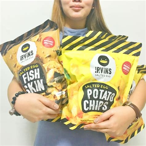Irvins Salted Egg Small irvin s salted egg potato chips food drinks on carousell