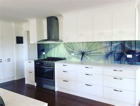Kitchen With Stainless Steel Backsplash by Custom Printed Glass Kitchen Splashbacks For Your Kitchen