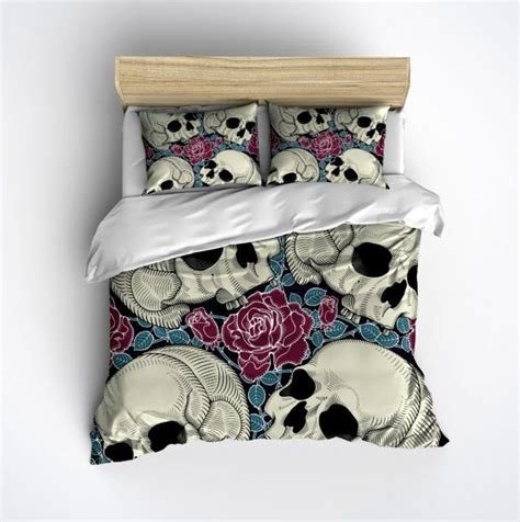 skull bedroom decor best 75 amazing comforter covers pillows images on