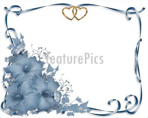 Wedding Stationery Border by Templates Wedding Invitation Border Blue Hibiscus Stock