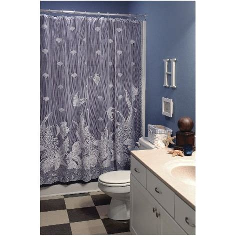curtains 94 inch drop heritage lace seascape 72 inch by 72 inch shower curtain