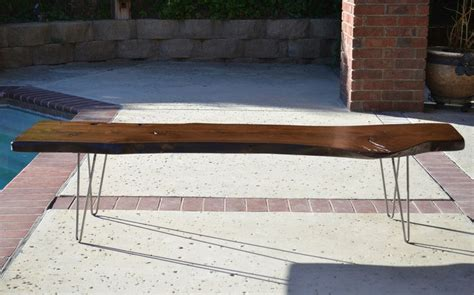 wood slab benches reclaimed wood slab dining bench