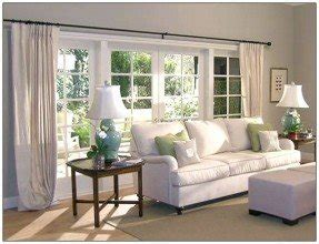 Different Way To Hang Curtains Decorating Picture Window Curtains And Window Treatments Foter
