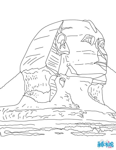 Sphinx Coloring Page sphinx of giza coloring pages hellokids