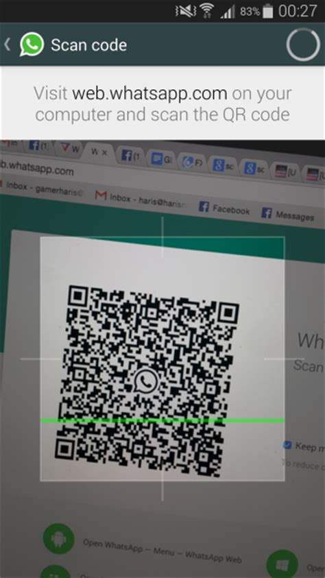 web whatsapp qr code android how to use whatsapp web with whatsapp android app tutorial guide