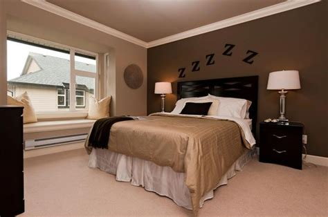 Bedroom Paint Ideas With Brown Furniture How To Decorate Your Bedroom With Brown Accent Wall Home