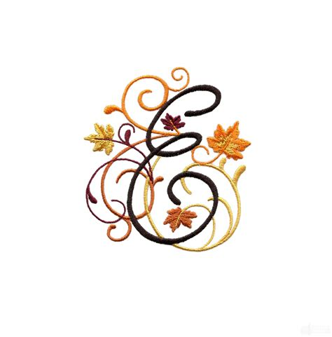 e e typography letter e embroidery design