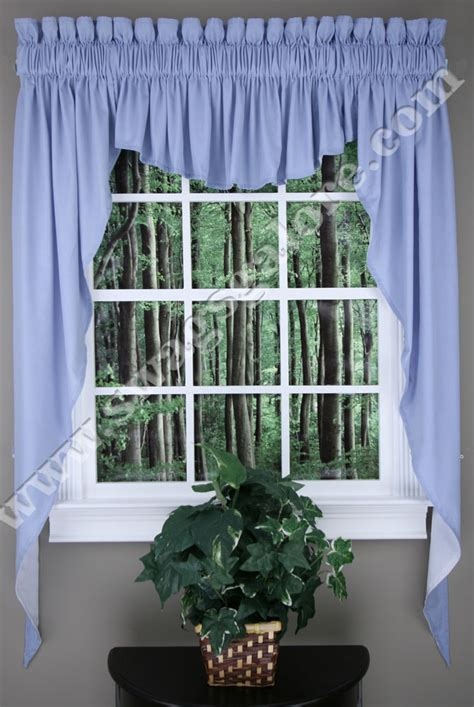 63 swag curtains emery lined 3 piece swag jabot curtain set 63 quot l sky