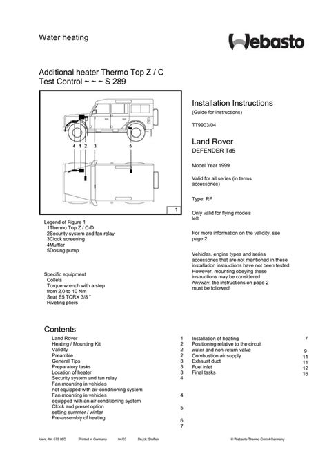 top c webasto heater wiring diagram 28 images webasto