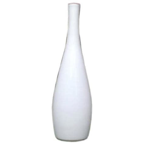 White Large Vase by Vintage Large White Cased Glass Vase By Kastrup At 1stdibs