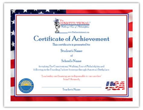 walking certificate templates certificate of achievement the constitutional walking