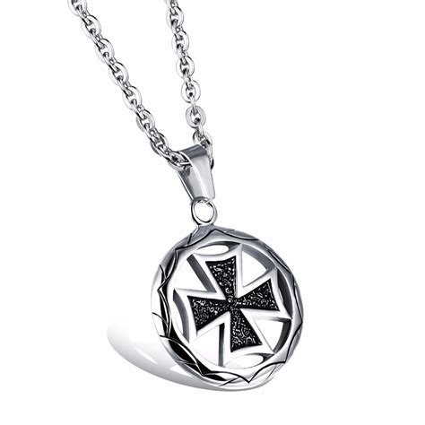stainless steel for jewelry metal swastika pendant necklaces stainless steel black