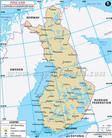 Finder Finland Finland Latitude And Longitude Map