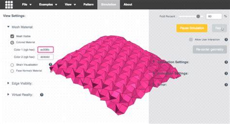 Origami Simulation - origami simulator