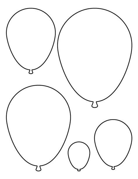 balloon template balloons pattern use the printable pattern for crafts