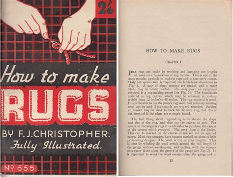 how to make rug how to make rugs 1950