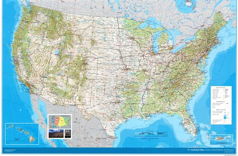 america map large large detailed road and topographical map of the usa the