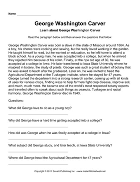 search results for free george washington worksheets important scientists comprehension george washington carver