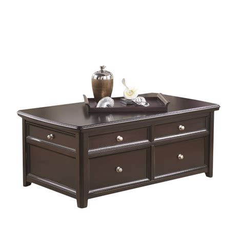 Lift Top Coffee Table Black Carlyle Lift Top Coffee Table In Almost Black T771 20