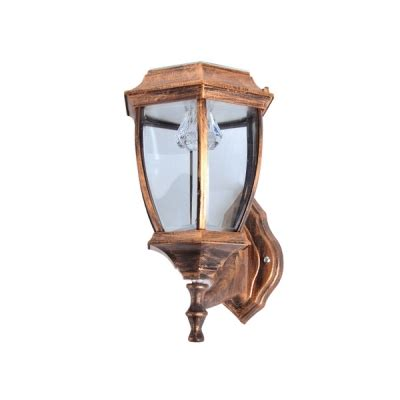 small outdoor solar lights unique design antique copper simple style 7 w small garden outdoor solar led wall light