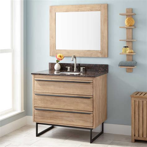 36quot cael teak vanity for rectangular undermount sink