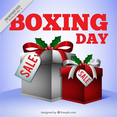 boxing day background with gift boxes of christmas gifts