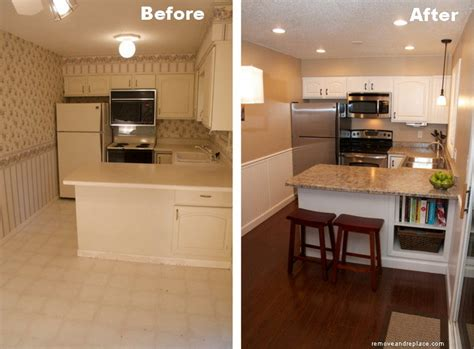 beautiful kitchen remodel on a budget before and after pictures removeandreplace com