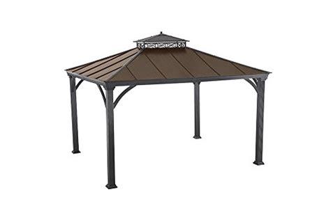 10 x 12 canopy mat sunjoy 12 x 10 two tier hardtop gazebo matt black poles