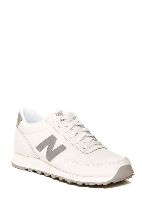 new balance 501 classic running sneaker new balance 501 classic running shoe in white for lyst