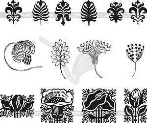 ornamente jugendstil einfache florale ornamente im jugendstil vektorabbildung