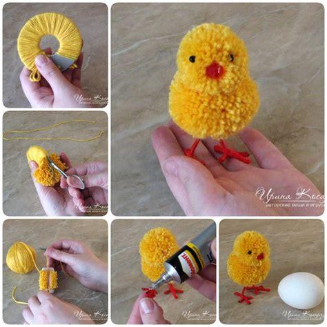how to make adorable pom pom easter chicks