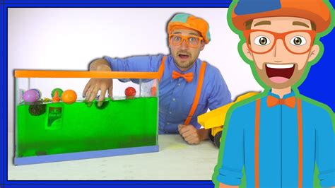 blippi sink  float cool science experiment  kids youtube