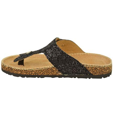 on sandals womens flat sandals glitter flip flops slip on toe