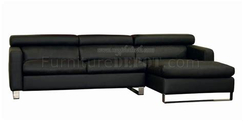 Black Leather Sectional Sofa With Tufted Sides Black Leather Tufted Sofa