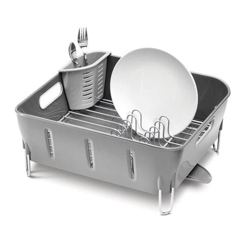 Simplehuman Compact Dish Rack Buy Simplehuman Grey Compact Dish Rack Amara