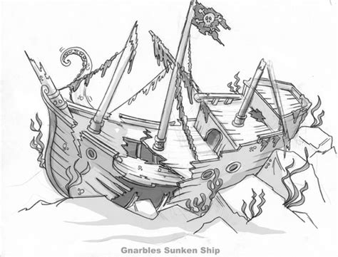broken boat drawing sunken ship coloring pages coloring pages