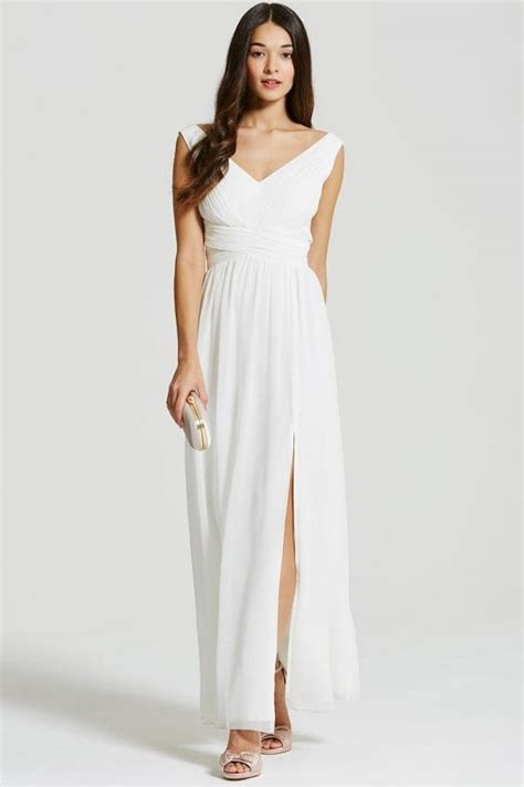 Maxi A Line By Irbah white empire line maxi dress from uk