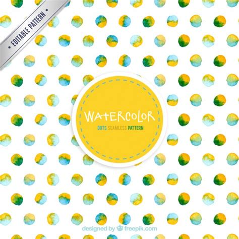 dots pattern freepik watercolor dots pattern vector free download