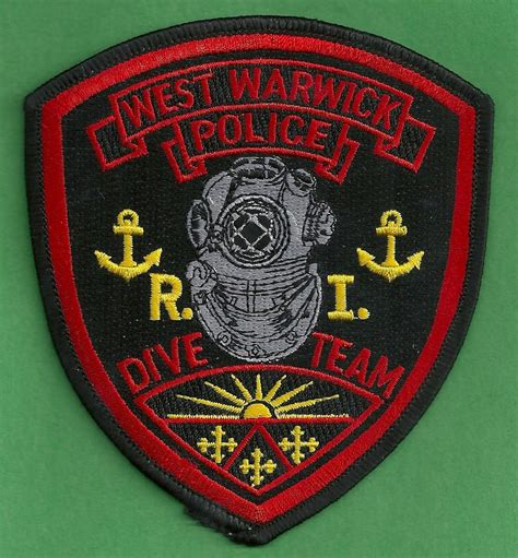 Warwick Ri Arrest Records West Warwick Rhode Island Dive Team Patch
