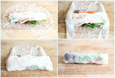 How To Fold Rice Paper Rolls - how to fold rice paper rolls rolls