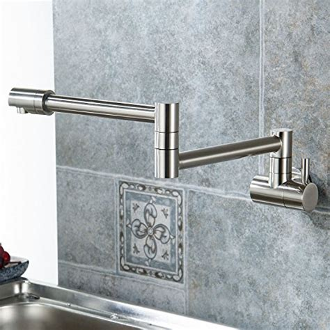 wall mount pot filler kitchen faucet aquafaucet wall mounted pot filler kitchen faucet with