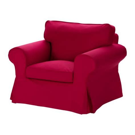 armchair red ikea ektorp armchair slipcover chair cover idemo red new