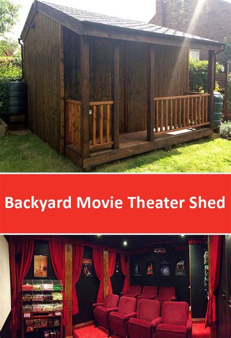 The Shed Theatre by Backyard Theater Shed Designed By Torii Cinema Co