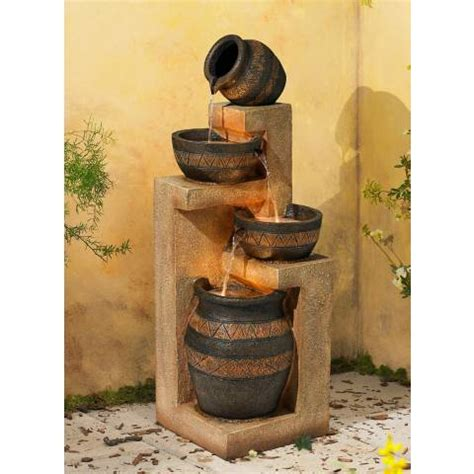 Ls Plus Outdoor Fountains by Stoneware Bowl And Jar Indoor Outdoor 46 Quot High