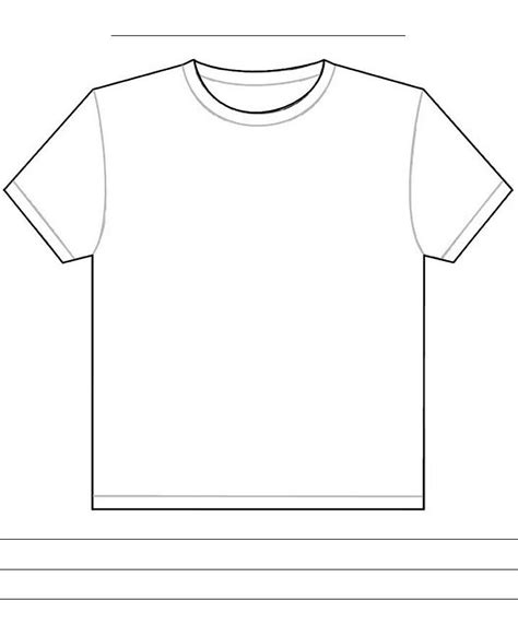 Blank Tshirt Template Pdf Joy Studio Design Gallery Best Design T Shirt Design Template Pdf