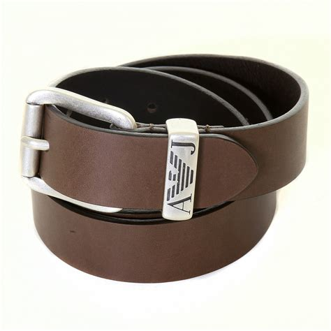 armani mens brown leather 06v01 80 casual belt