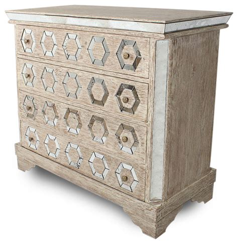 Bedroom Dresser Chest Geometric Manor Mirrored Antique Octagon Dresser Chest Transitional Dressers By
