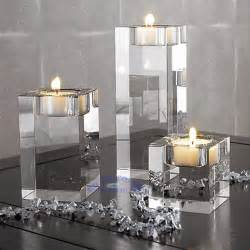 Large Square Glass Candle Holders 3pcs Different Sizes Glass Candle Holders Square